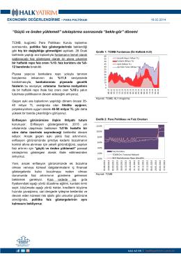 EKONOMİK DEĞERLENDİRME - PARA POLİTİKASI