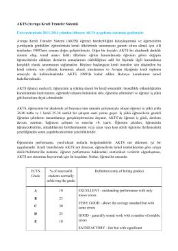 AKTS - İstanbul Üniversitesi