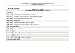 a. eğitim programı - Çanakkale Onsekiz Mart Üniversitesi