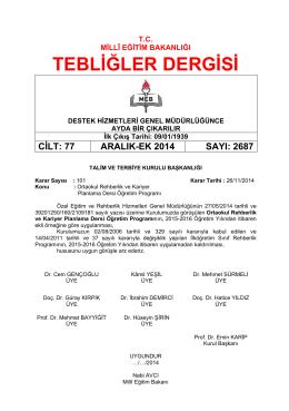 2687_Aralik_EK_2014 - Tebliğler Dergisi