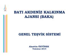genel teşvik sistemi (temmuz 2014)