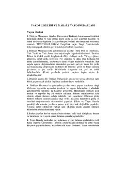 Yayım ilkeleri ve makale yazım kuralları (pdf)