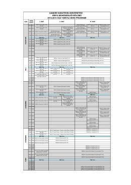 çankırı karatekin üniversitesi kimya mühendisliği bölümü 2014