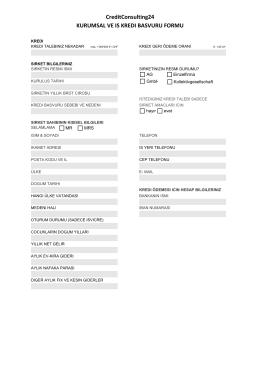 Ticari kredi - CC24.ch - CreditConsulting24
