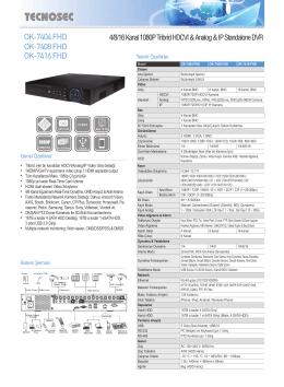OK-7404 FHD OK-7408 FHD OK-7416 FHD