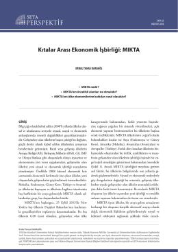 Kıtalar Arası Ekonomik İşbirliği MIKTA [PDF]