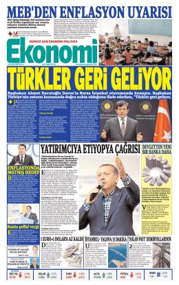 25 OCAK 2014 - Ekonomi Gazetesi