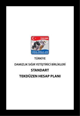 Hesap Planı - Türkiye Damızlık Sığır Yetiştiricileri Merkez Birliği