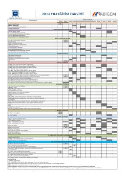 2014 yılı eğitim takvimi