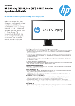 "HP Z Display Z23i 58,4 cm (23"") IPS LED Arkadan - Hewlett"