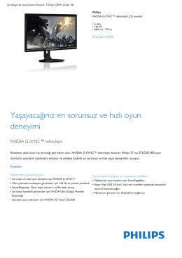 NVIDIA G-SYNC™ teknolojili G-line 144 Hz LCD monitör