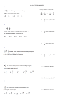 10. sınıf trigonometri