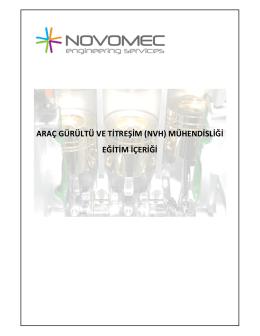 Novomec Mühendislik Uygulamalı Araç Gürültü ve Titreşim
