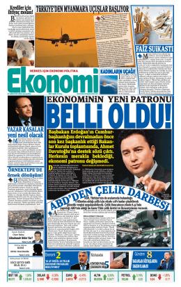 27 ağustos 2014 - Ekonomi Gazetesi