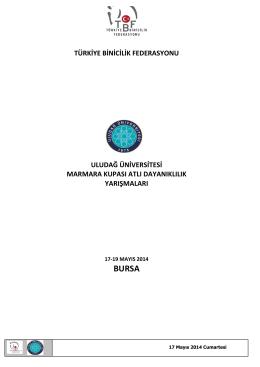 17-19 mayıs 2014 - Uludağ Üniversitesi