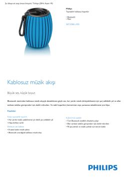 Product Leaflet: Bluetooth Mavi kablosuz taşınabilir hoparlör
