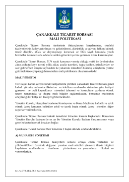 çtb mali politikamız - Çanakkale Ticaret Borsası