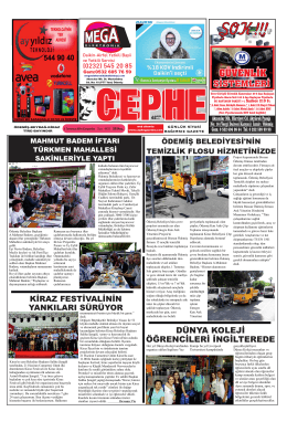 02.07.2014 Tarihli Cephe Gazetesi