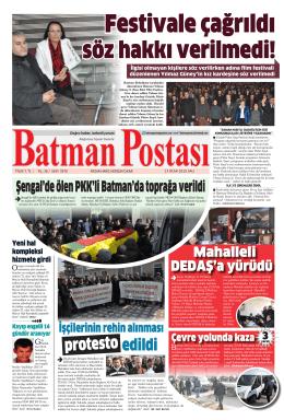 Sayfa - Batman Postası