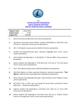 20.02.2014 Tarih ve 2014-06 Sayılı Karar