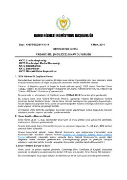 Yabancı Dil Sınavı 2014web - Kamu Hizmeti Komisyonu