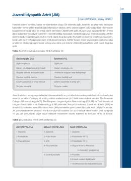 Juvenil İdyopatik Artrit (JIA)