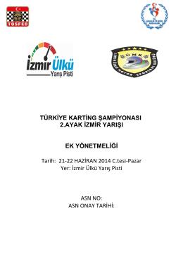 1 ) PROGRAM - İzmir Park