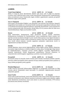 grafikdersiçerik - Uluborlu Selahattin Karasoy Meslek Yüksekokulu