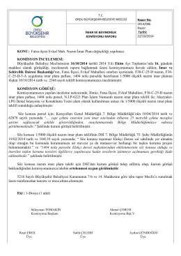 86. komisyon raporu - Ordu Büyükşehir Belediyesi