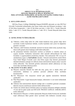 T.C. ORMAN VE SU İŞLERİ BAKANLIĞI DSİ ILISU