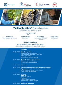 İstanbul - 24 Ocak 2014, Bahçeşehir Üniversitesi (PDF)