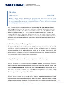2014-007 Yeni ÖKC Fişleri ve Finansman