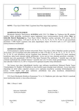 74. komisyon raporu - Ordu Büyükşehir Belediyesi