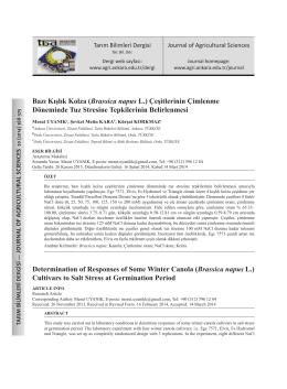 Full Text - Tarım Bilimleri Dergisi