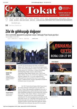 Tokat Gazetesi Zilede Gökkuşağı Doğuyor