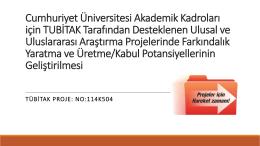 Proje Süresi - tubitak1000.org