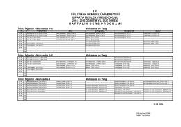Muhasebe ve Vergi_İÖ - Isparta Meslek Yüksekokulu