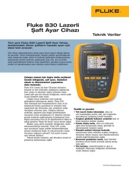 Fluke 830 Lazerli Şaft Ayar Cihazı