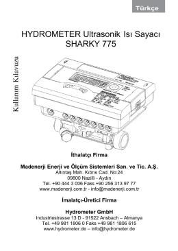 SHARKY 775 Kullanım Kılavuzu