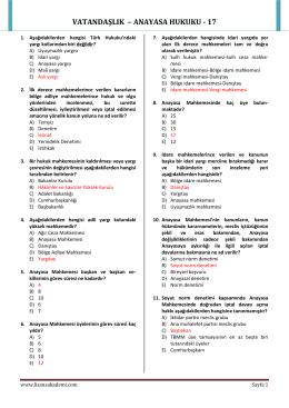 VATANDAŞLIK – ANAYASA HUKUKU - 17