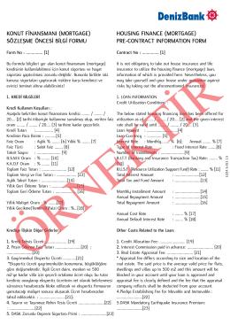 konut finansmanı (mortgage)