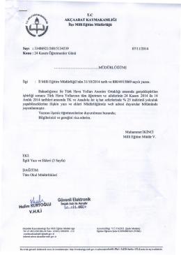 Bakanlığımız ile Türk Hava Yolları Anonim Ortaklığı arasında