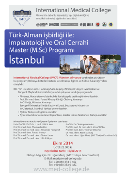 İstanbul - International Medical College IMC