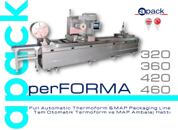 apack performa thermoform machıne