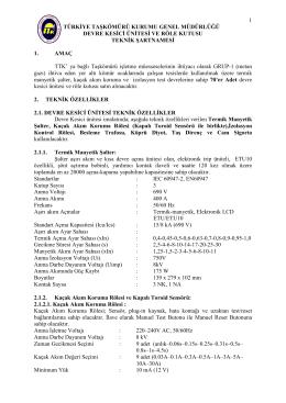 1 türkiye taşkömürü kurumu genel müdürlüğü devre kesici ünitesi ve