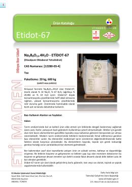 Na2B8O13.4H2O - ETİDOT-67