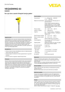 Kullanim Kilavuzu - VEGASWING 63 - NAMUR Sıvı için boru uzantılı