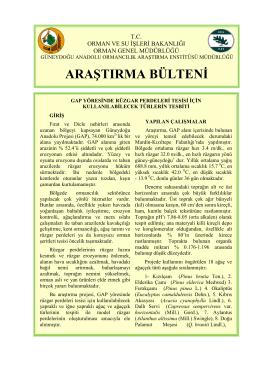 GDA. Arşt. Bülteni 005 - Batı Karadeniz Ormancılık Araştırma