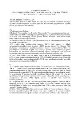 tunceli üniversitesi 2014-2015 eğitim