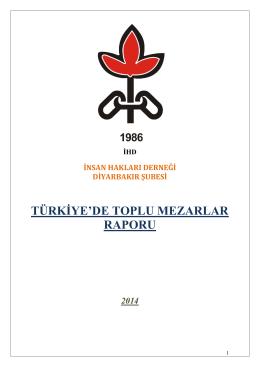 Toplu Mezar Raporu - (İHD) Diyarbakır Şubesi